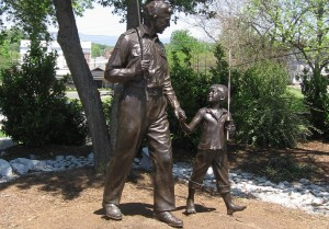 Andy Griffith Show Statue in Mount Airy NC